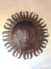 Summer Sunburst Metal Sun Wall Art sculpted from recycled oil barrels