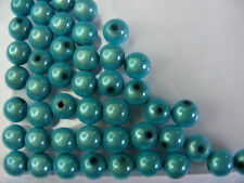 50 PERLES MIRAGE /MIRACLE /MAGIQUE 8mm TURQUOISE A107