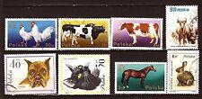 56T2 POLONIA Animales granja .8 Sellos sellados