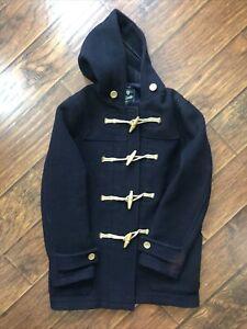 Ralph Lauren Rugby Navy Wool Duffle Coat Medium