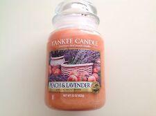 Yankee Candle Peach & Lavender Jar Candle 22 Ounces
