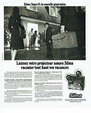 Publicité Advertising 037  1975  le projecteur sonore  photo-cinéma Silma