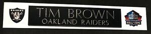 TIM BROWN  OAKLAND RAIDERS  NAME PLATE