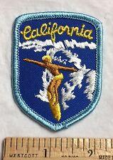 Surf California CA Surfing Souvenir Beach Bum Embroidered Patch Badge