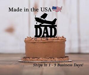 Single Engine Plane Cake Topper, Flying, Dad Birthday, Aviation, Plane, LT1465