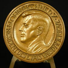 Médaille JFK USA United States Président John Fitzgerald Kennedy 68mm Medal