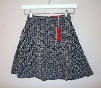 Tigerlily Brand Charcoal Paisley Geo Printed Ingres Skirt Size 6 BNWT #TD15
