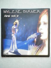 Mylene Farmer cd single Ainsi Soit Je Live