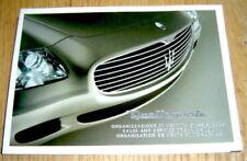 Genuine UK English Maserati Quattroporte M139 Owners Handbook Sales & Service