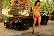 Hot Topless Brunette with ACR Viper  Poster