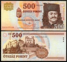 HUNGARY 500 FORINT 2007 P196a UNCIRCULATED