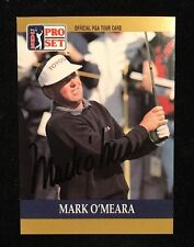 MARK O'MEARA 1990 PRO SET PGA AUTOGRAPHED SIGNED AUTO GOLF CARD 30