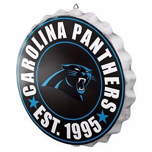 "Carolina Panthers Bottle Cap Sign - Est 1995 - Room Bar Decor NEW 13.5"""