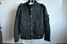 Selected Herren Winter Jacke Gr. XL/54 Schwarz Denim Jacket Steppjacke
