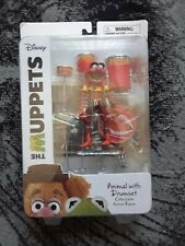 THE MUPPETS DIAMOND SELECT ANIMAL WITH DRUMSET ACTION FIGURE RARE