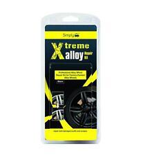 Black Alloy Wheel Rim Full Repair Kit Professional Refurbish Kerb Damage XAWR2