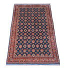 Varamin 205 X 121 CM Hand-Knotted Orient Carpet oriental IN Blue Allover, New