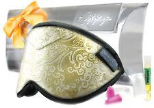 Dream Essentials Opulence Sleep Mask Gift Set Aromatherapy Gold Leaf