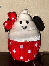 "Disney Parks Disneyland Plush Food Series Minnie Mouse Cupcake 8 1/2"" Plush Toy"