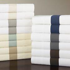 Sferra Orlo 9215 Full/Queen Flat Sheet White / Navy Blue W410