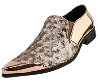 Men's Dress Shoes, Mens Fashion Slip On Shoes - Sequin Designer Shoes for Men