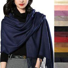 Luxury Women Lady Large Long Winter Warm Soft Cashmere Scottish Shawl Knit Scarf