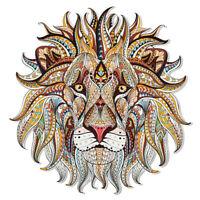 AU_ 3D Lion Sticker Patch DIY Iron On Transfer Applique Clothes Fabric Craft Sur