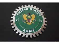 US Army United States USA Grille Badge Bumper License Topper Accessory Chrysler