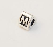 "Genuine Pandora Silver Charm ""Letter M"" - 790323M - retired"