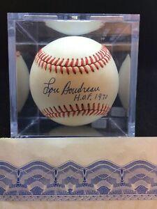Lou Boudreau signed  Baseball w/ HOF 1970 inscription & COA (B22)