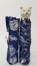 Cath Kidston  Handle Squiggle Cats Umbrella Navy Colour New with Tag