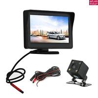 "Car Rear View Kit Camera 4.3"" Parking LCD Monitor Wireless IR Reversing NEW"