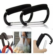 2pc XL Carabiner Stroller Hook D-Ring Shopping Baby Clip For Buggies