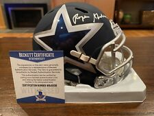 Roger Staubach Autographed Dallas Cowboys AMP Mini Helmet Witness Beckett