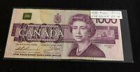 Canada 1988 $1000 Dollars EKA EF-45 Thiessen - Crow Banknote
