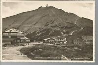 Schlesierhaus und Riesenbaude mit Schneekoppe/ Riesengebirge 1937