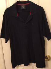 Ferrari Polo Shirt, Dark Navy, Men's Size L/Xl.