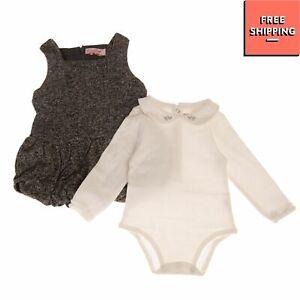 MIRTILLO Body & Tunic Dress Set Size 3M / 62CM Knitted