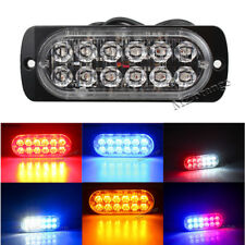 2X 12 LED Strobe Warning Emergency Car Light 19 Flash Patterns Signal Hazard