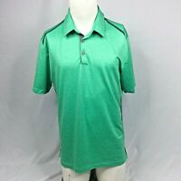 Adidas Golf ClimaCool Polo Shirt Mens Medium Green Stretch Athletic Short Sleeve