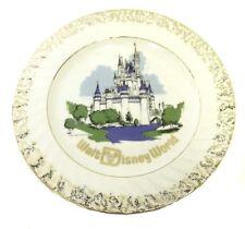 Walt Disney World Plate Japan Cinderella's Castle Gold Trim Collector Vintage