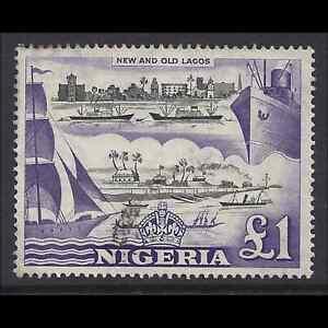 Nigeria 1953/58 QE2 £1 Black & Violet SG 80 Cat £21 F/Used