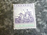 BARBADOS POSTAGE STAMP SG144 2/6D VERY LIGHTLY-MOUNTED MINT