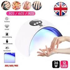 36W LED Nail Light Lamp Dryer UV Curing Gel Nail Polish Professional Timer UK