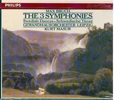 Bruch: Sinfonie-Symphonies & Swedish Dances / Masur, Gewandhaus orchestra- CD