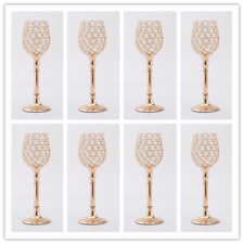 8PCS 30CM Tall Crystal Wedding Centerpieces Candelabras Pillar Candel Holders