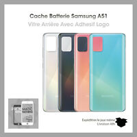 Vitre arriere cache batterie pour Samsung GALAXY A51 SM-A515F + Adhesif Logo