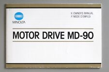 Minolta Motor Drive MD-90 Instruction Manual 1985 (English, French)