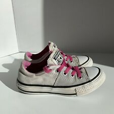 Converse All Star Youth Girl Tongue Gray Pink Laces Low Top size 11