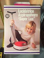 LUCIDATRICE ASPIRAPOLVERE SUPER LUX GIOCATTOLI BIELLI NUOVISSIMA,DEAD STOCK!!!